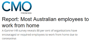 CMO  IDG Most Australian employees to work from home
