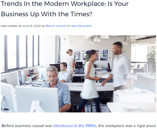 Instapage Trends in modern workplace